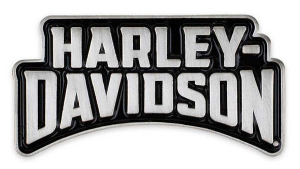 Harley-Davidson 2D Die Struck Insignia H-D Pin - Polished Silver Effect P344062 - Wisconsin Harley-Davidson