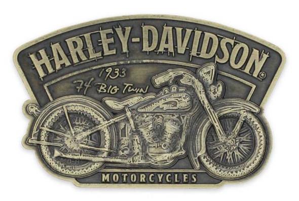 Harley-Davidson 3D Die Cast Timeline Motorcycle Magnet - Antique Brass DM34526 - Wisconsin Harley-Davidson
