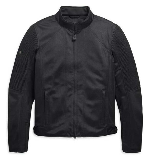 Harley-Davidson Men's Ozello Slim Fit Mesh Riding Jacket, Black 98157-20VM - Wisconsin Harley-Davidson