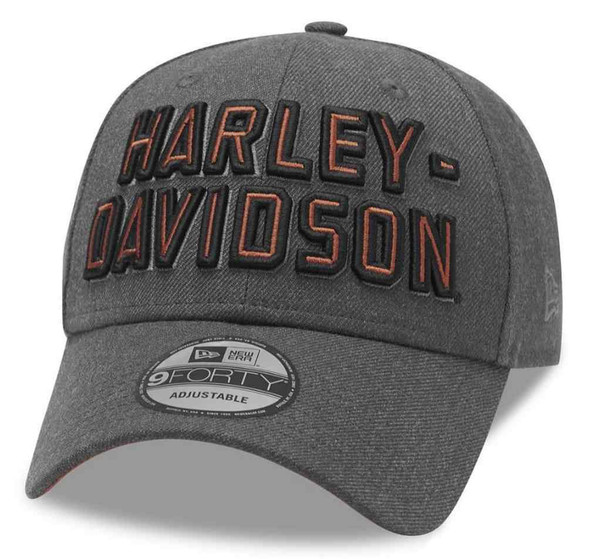 Harley-Davidson Men's Embroidered Graphic 9FORTY Baseball Cap, Gray 99420-20VM - Wisconsin Harley-Davidson