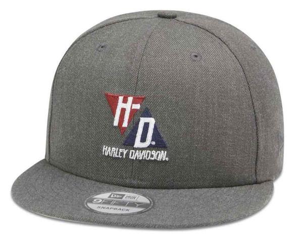 Harley-Davidson Mens Triangle HD 9FIFTY Adjustable Baseball Cap, Gray 99413-20VM - Wisconsin Harley-Davidson