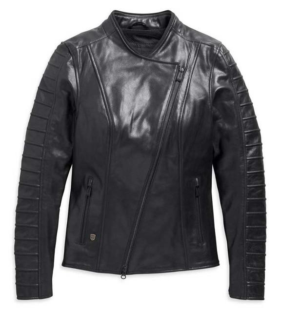 Harley-Davidson Women's Ozello Perforated Midweight Leather Jacket 98008-20VW - Wisconsin Harley-Davidson