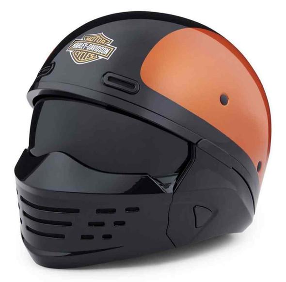 Harley-Davidson Men's Sport Glide 3-IN-1 X07 Helmet, Orange & Black 98371-20VX - Wisconsin Harley-Davidson