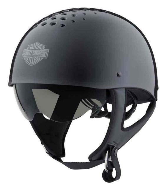 Harley-Davidson Unisex Trenton B&S B13 Sun Shield Half Helmet, Black 98104-20VX - Wisconsin Harley-Davidson