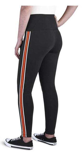 Harley-Davidson Women's Side Stripe Embellished Leggings - Black 99109-20VW - Wisconsin Harley-Davidson