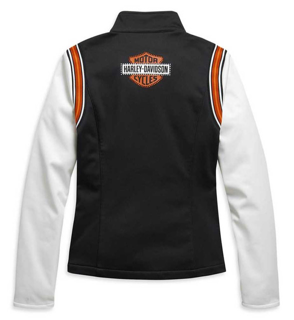 Harley-Davidson Women's Embellished Logo Colorblock Fleece Jacket 98409-20VW - Wisconsin Harley-Davidson