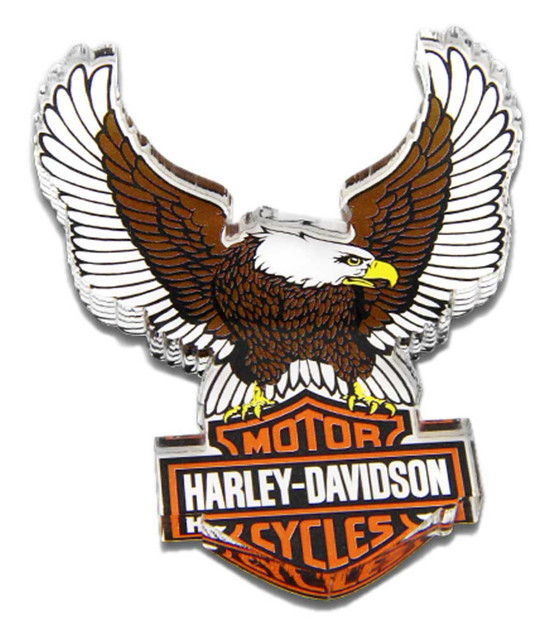 Harley-Davidson Cut-Out Up-Winged Eagle Hard Acrylic Magnet - 3.5 x 2.5 inches - Wisconsin Harley-Davidson