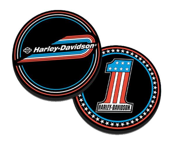 Harley-Davidson #1 Retro Gas Tank Metal Challenge Coin, 1.75 in. - Black Finish - Wisconsin Harley-Davidson