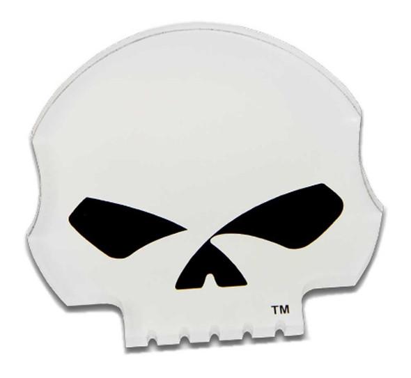Harley-Davidson Cut-Out Willie G Skull Logo Hard Acrylic Magnet - 3.25 x 3 inch - Wisconsin Harley-Davidson