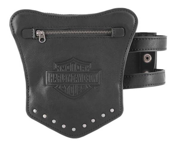 Harley-Davidson Women's B&S Garter Thigh Leather Wallet - 6.5 x 6.75 inches - Wisconsin Harley-Davidson