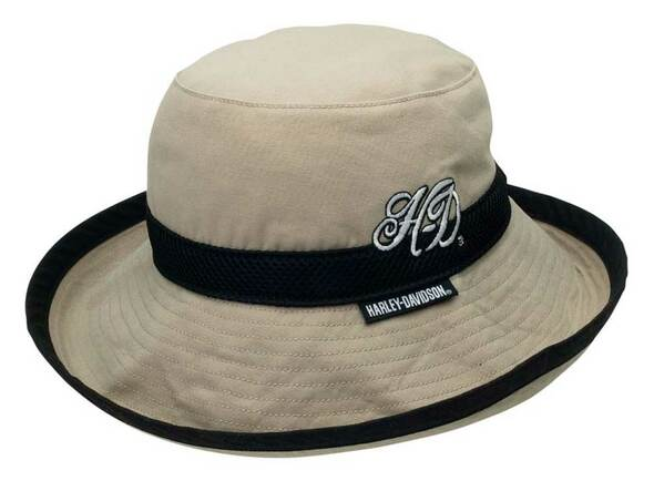 Harley-Davidson Mens Cotton Canvas Bucket Hat w/Adjustable Toggle Closure HD-467 - Wisconsin Harley-Davidson