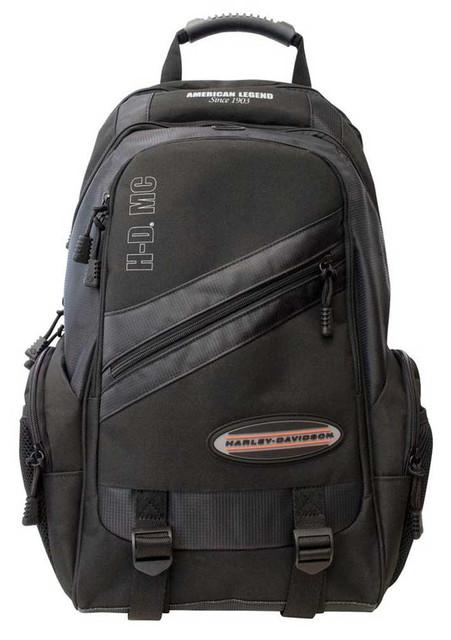 Harley-Davidson On The Road Megapack Backpack w/ 5 Pockets & Adjustable Straps - Wisconsin Harley-Davidson