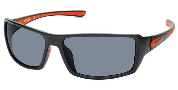 Harley-Davidson Men's Shallow Sport Sunglasses, Matte Black Frame & Smoke Lenses - Wisconsin Harley-Davidson