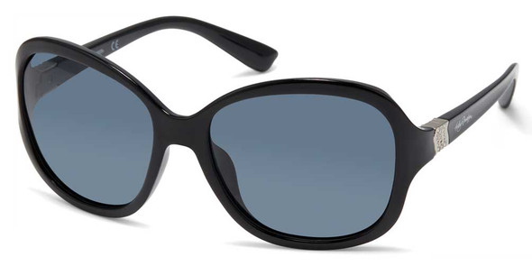 Harley-Davidson Women's Rebel Butterfly Sunglasses, Black Frame & Smoke Lenses - Wisconsin Harley-Davidson