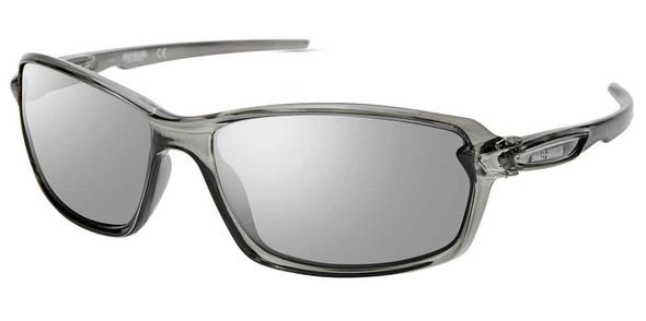 Harley-Davidson Men's Modern Sport Sunglasses, Crystal Gray Frame & Smoke Lenses - Wisconsin Harley-Davidson