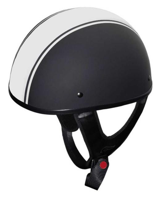 Fulmer Powersports 301 Tac Raya Stripe Shorty Motorcycle Half Helmet - Black - Wisconsin Harley-Davidson
