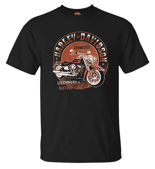 Harley-Davidson Men's Elite Bike Crew-Neck Short Sleeve Cotton T-Shirt, Black - Wisconsin Harley-Davidson