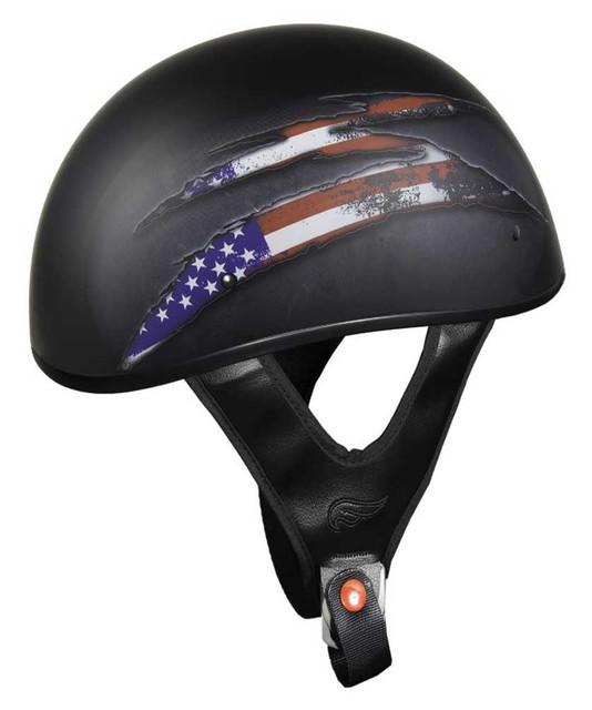 Fulmer Powersports 301 Tac Talon Graphic Shorty Motorcycle Half Helmet - Black - Wisconsin Harley-Davidson