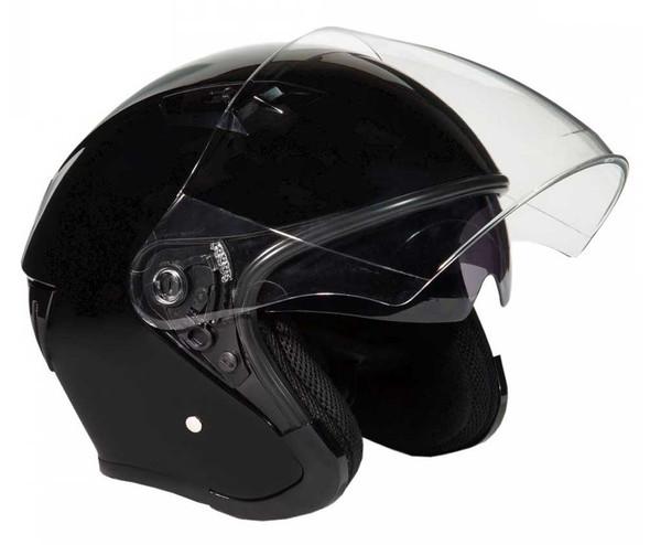 Fulmer Powersports 360 Forge Open Face Sunshield Motorcycle Helmet - Black - Wisconsin Harley-Davidson