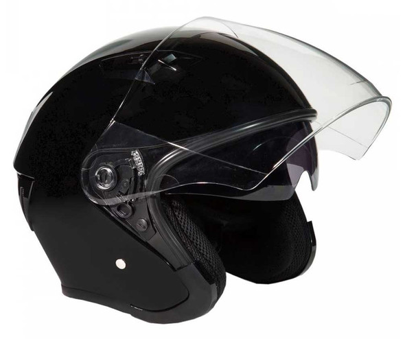 Fulmer Powersports 360 Forge Open Face Sunshield Motorcycle Helmet - Black - Wisconsin Harley-Davidson