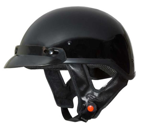 Fulmer Powersports 302 Revel Visor Motorcycle Half Helmet - Gloss Black - Wisconsin Harley-Davidson