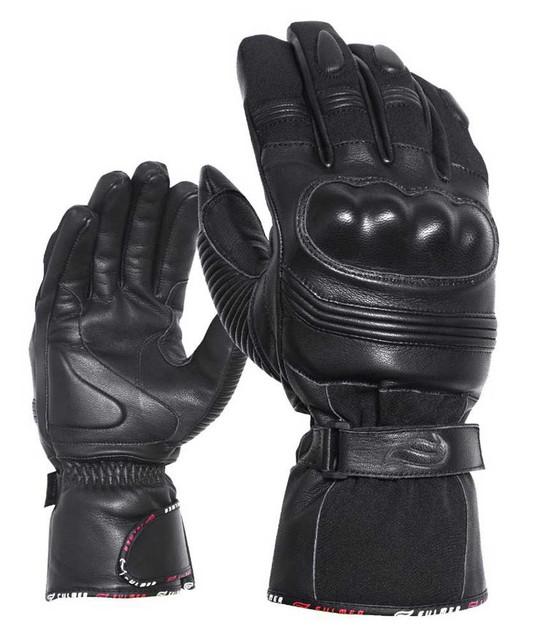 Fulmer Men's 553 Bruizer Heavyweight Deerskin Leather Full-Finger Gloves - Black - Wisconsin Harley-Davidson