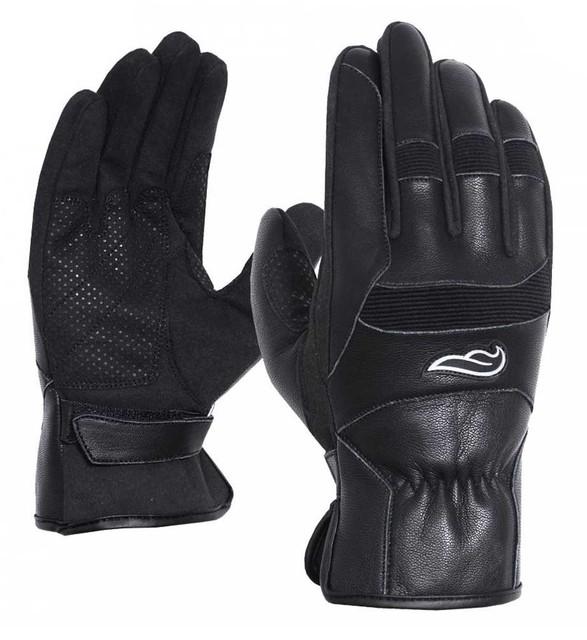 Fulmer Men's 554 Sprinter Goat Leather Full-Finger Motorcycle Gloves - Black - Wisconsin Harley-Davidson