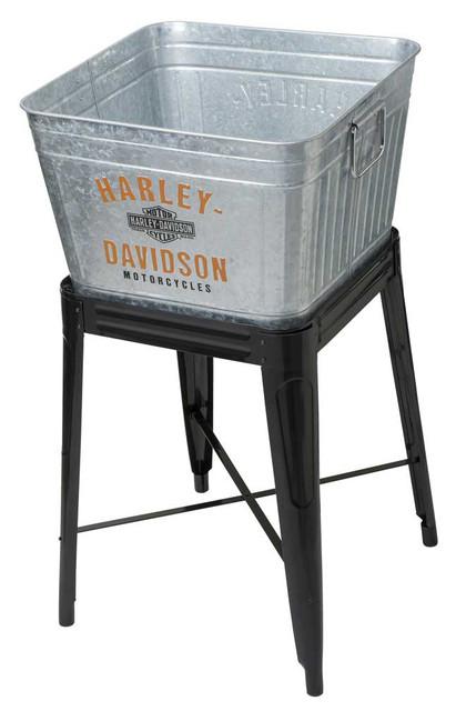 Harley-Davidson 42 Quart Galvanized Metal Cooler Tub w/ Stand HDX-98508 - Wisconsin Harley-Davidson