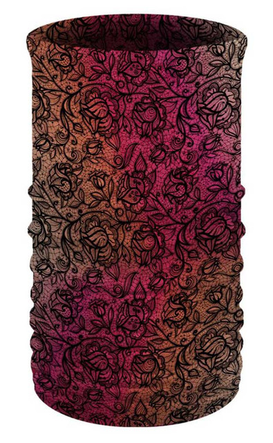 That's A Wrap Women's Lacy Lady Mauve Multi-Function Reversible Tube Face Cover - Wisconsin Harley-Davidson