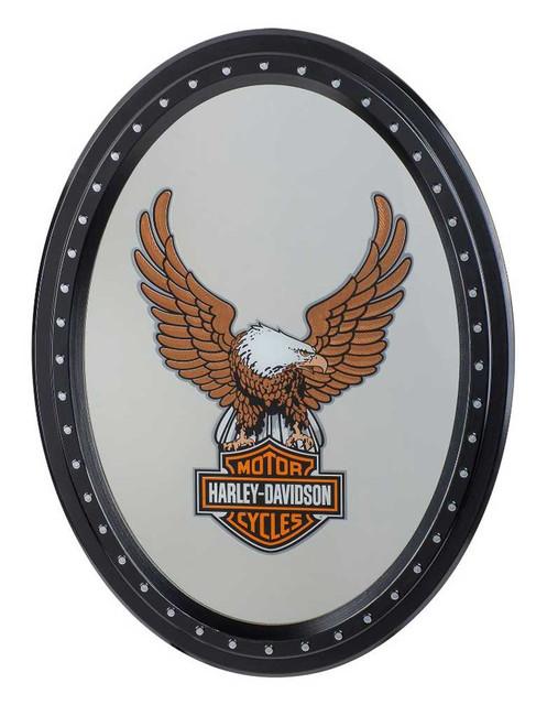 Harley-Davidson Eagle Bar & Shield Logo Oval Mirror Sign -18 x 24 inch HDL-15232 - Wisconsin Harley-Davidson
