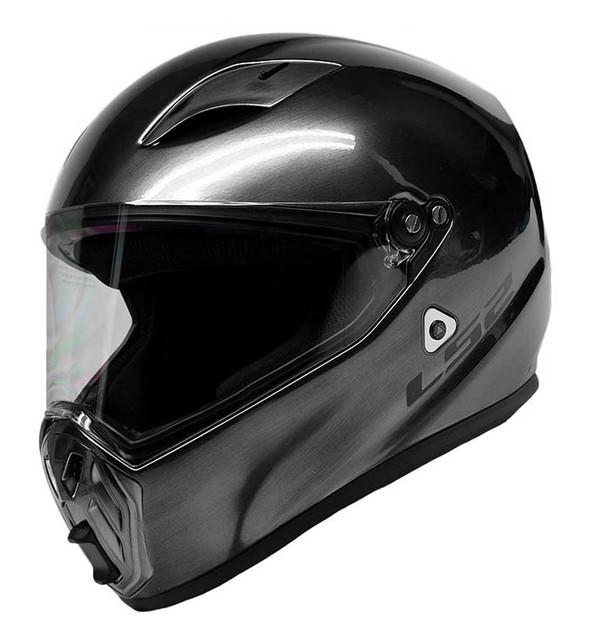 LS2 Helmets Street Fighter Full Face Motorcycle Helmet, Brushed Alloy 419-353 - Wisconsin Harley-Davidson