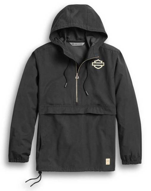 Harley-Davidson Men's Slim Fit HDMC 1/4-Zip Pullover Jacket, Black 97423-20VH - Wisconsin Harley-Davidson