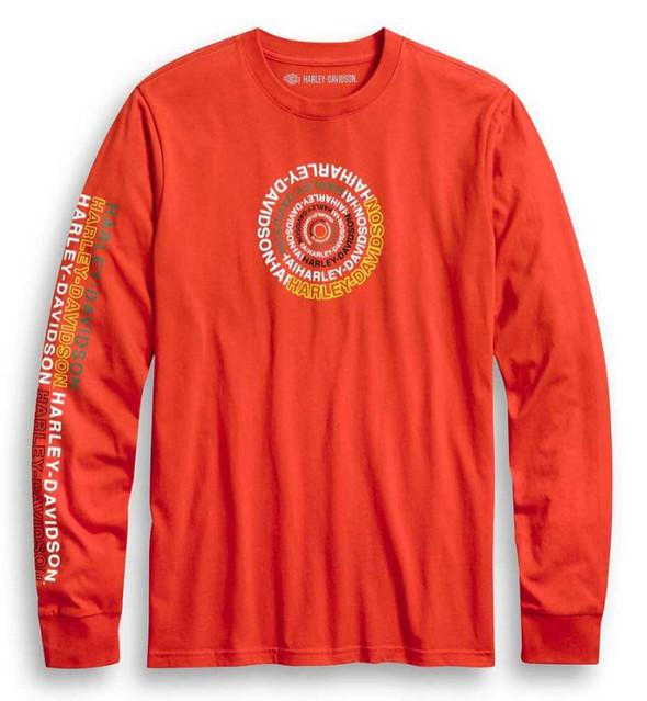 Harley-Davidson Men's Slim Fit Spiral Graphic Long Sleeve T-Shirt 96250-20VH - Wisconsin Harley-Davidson
