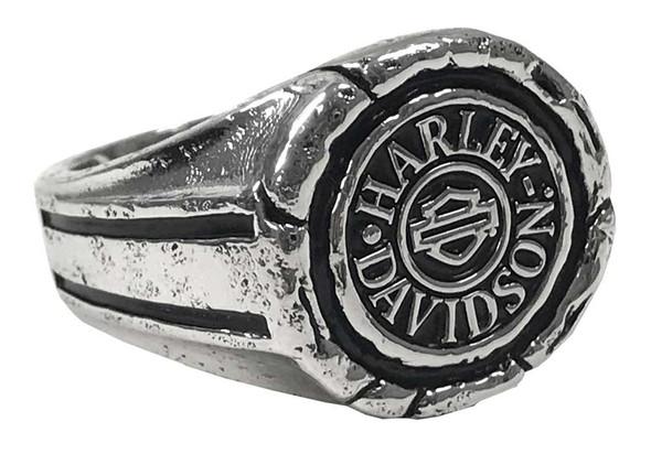 Harley-Davidson Men's Bar & Shield Wax Seal Ring - Sterling Silver HDR0544 - Wisconsin Harley-Davidson