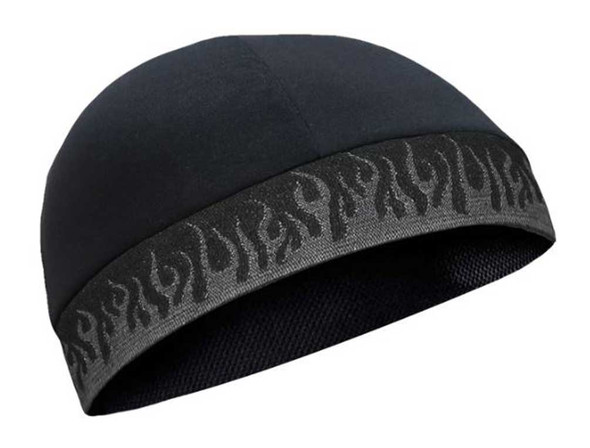That's A Wrap Unisex Flame Up Performance CoolMax Cool Skull Cap - Black - Wisconsin Harley-Davidson