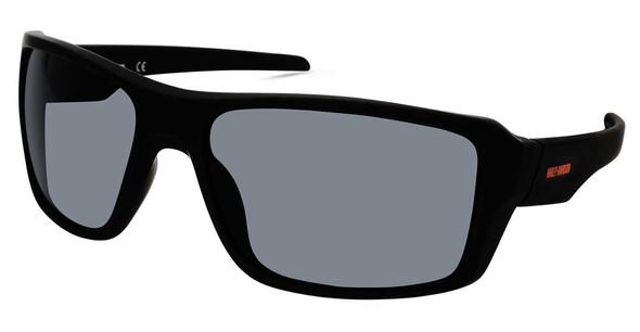 Harley-Davidson Men's Plastic Rectangle Sunglasses, Matte Black Frame/Smoke Lens - Wisconsin Harley-Davidson