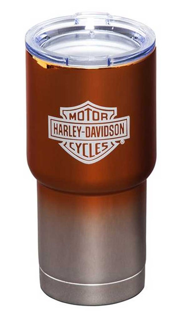 Harley-Davidson Electroplate B&S Logo Metallic Insulated Tumbler w/ Lid - 20 oz. - Wisconsin Harley-Davidson