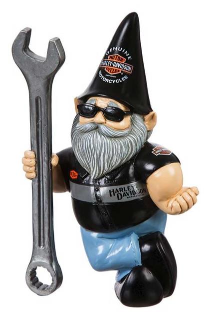 Harley-Davidson Mechanic Male Polystone Garden Gnome, 8.5 x 5 in. 544902D - Wisconsin Harley-Davidson
