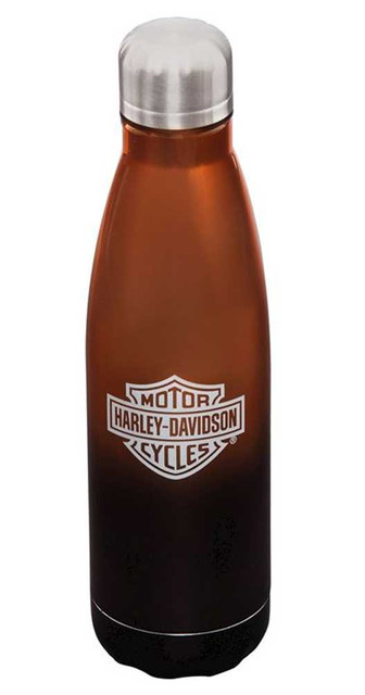 Harley-Davidson Electroplate B&S Metallic Stainless Steel Water Bottle - 17 oz. - Wisconsin Harley-Davidson