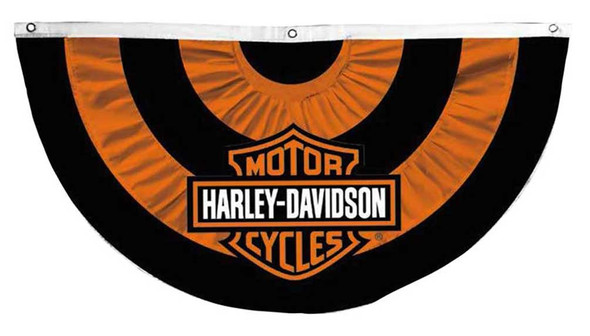Harley-Davidson Bar & Shield Logo Applique Bunting Flag, 50 x 26 inches 22N4900 - Wisconsin Harley-Davidson