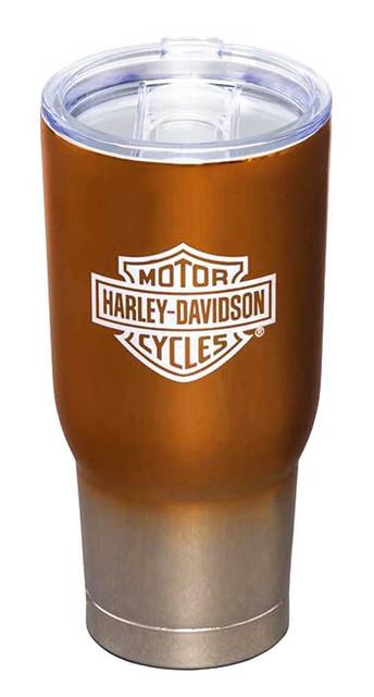 Harley-Davidson Electroplate B&S Logo Metallic Insulated Tumbler w/ Lid - 32 oz. - Wisconsin Harley-Davidson