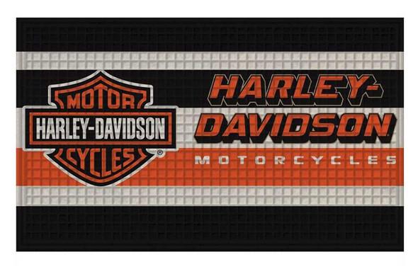 Harley-Davidson Embossed Bar & Shield Logo Doormat - 30 x 18 inches 41EM4900 - Wisconsin Harley-Davidson