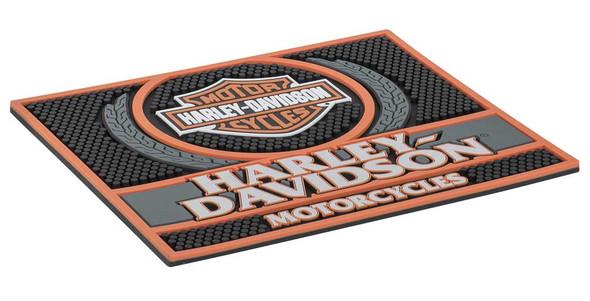 Harley-Davidson Custom Motorcycles Rubber Bar Mat - 14 x 12 inches HDL-18591 - Wisconsin Harley-Davidson