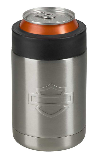 Harley-Davidson Silhouette B&S Stainless Steel Can Cooler - 12 oz. HDX-98513 - Wisconsin Harley-Davidson