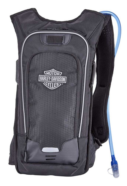 Harley-Davidson Deluxe Sports & Riding Hydration Travel Pack Backpack - Black - Wisconsin Harley-Davidson