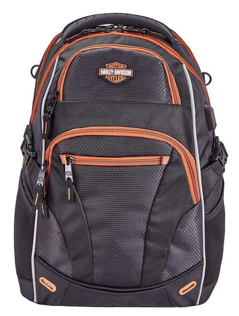 Harley-Davidson Renegade II Hi-Tech External USB Port Backpack - Rust/Black - Wisconsin Harley-Davidson