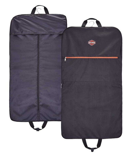 Harley-Davidson Bar & Shield Logo Zipper Garment Bag w/ Hanger Included - Black - Wisconsin Harley-Davidson