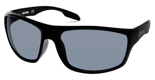 Harley-Davidson Men's Plastic Rectangle Sunglasses, Black Frame/Smoke Lenses - Wisconsin Harley-Davidson