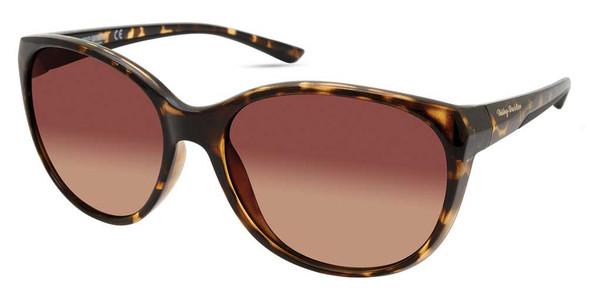 Harley-Davidson Women's Beveled Sunglasses, Havana Frames/Gradient Brown Lenses - Wisconsin Harley-Davidson
