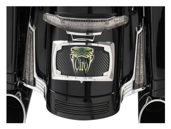 Ciro Filler Panel Lights for Street Glide - All Red LEDs, Chrome or Black - Wisconsin Harley-Davidson